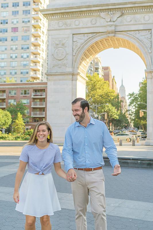 nyc wedding photographer engagement shoot