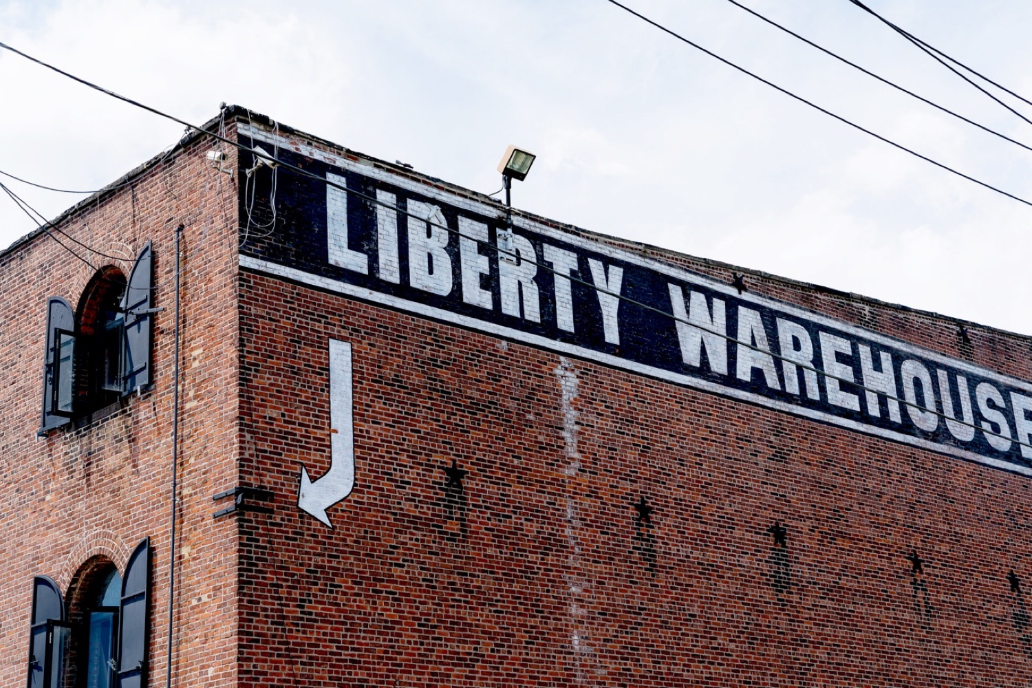 Entrance at Liberty Warehouse in Red Hook, Brooklyn New York.