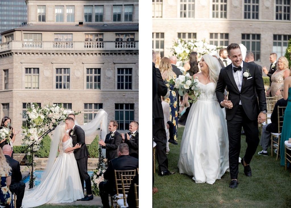 wedding kiss at 620 loft and garden