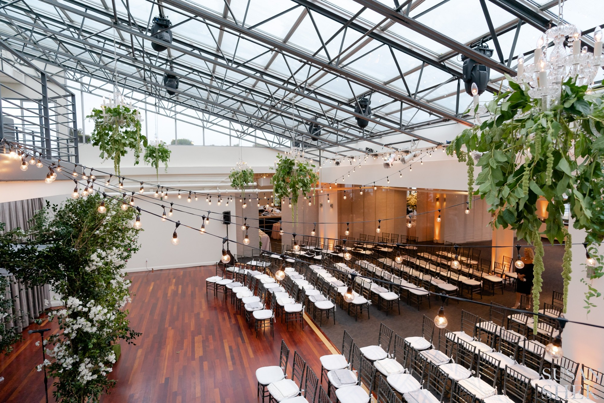 photo of the ceremony space indoors at tribeca rooftop