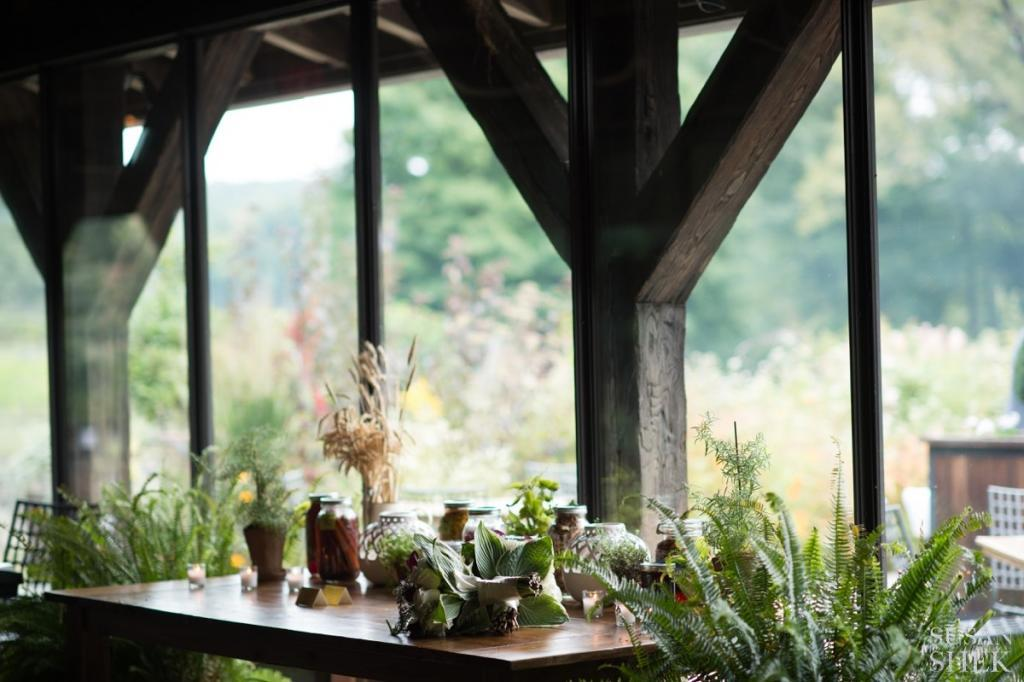 some of the natural decor at blue hill stone barns