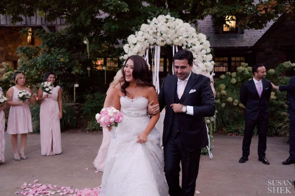 big smiles as married couple blue hill stone barns