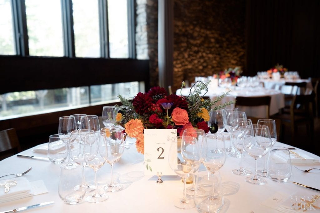 flowers at blue hill stone barns