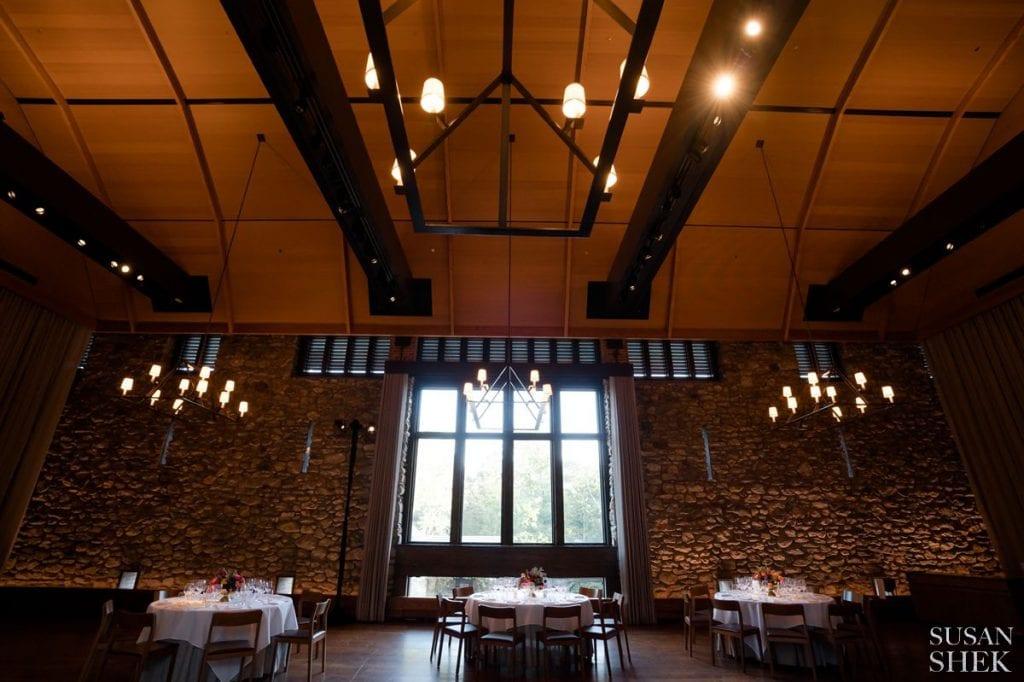 haybarn reception room at blue hill stone barns