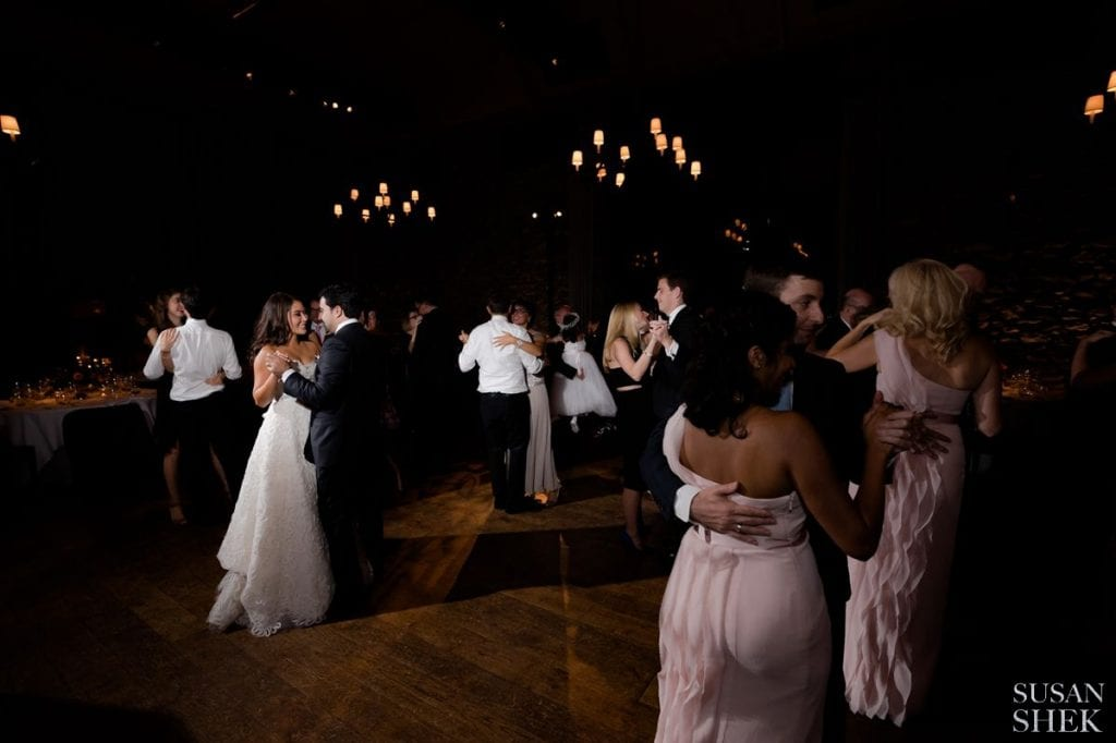 slow dancing at blue hill stone barns reception
