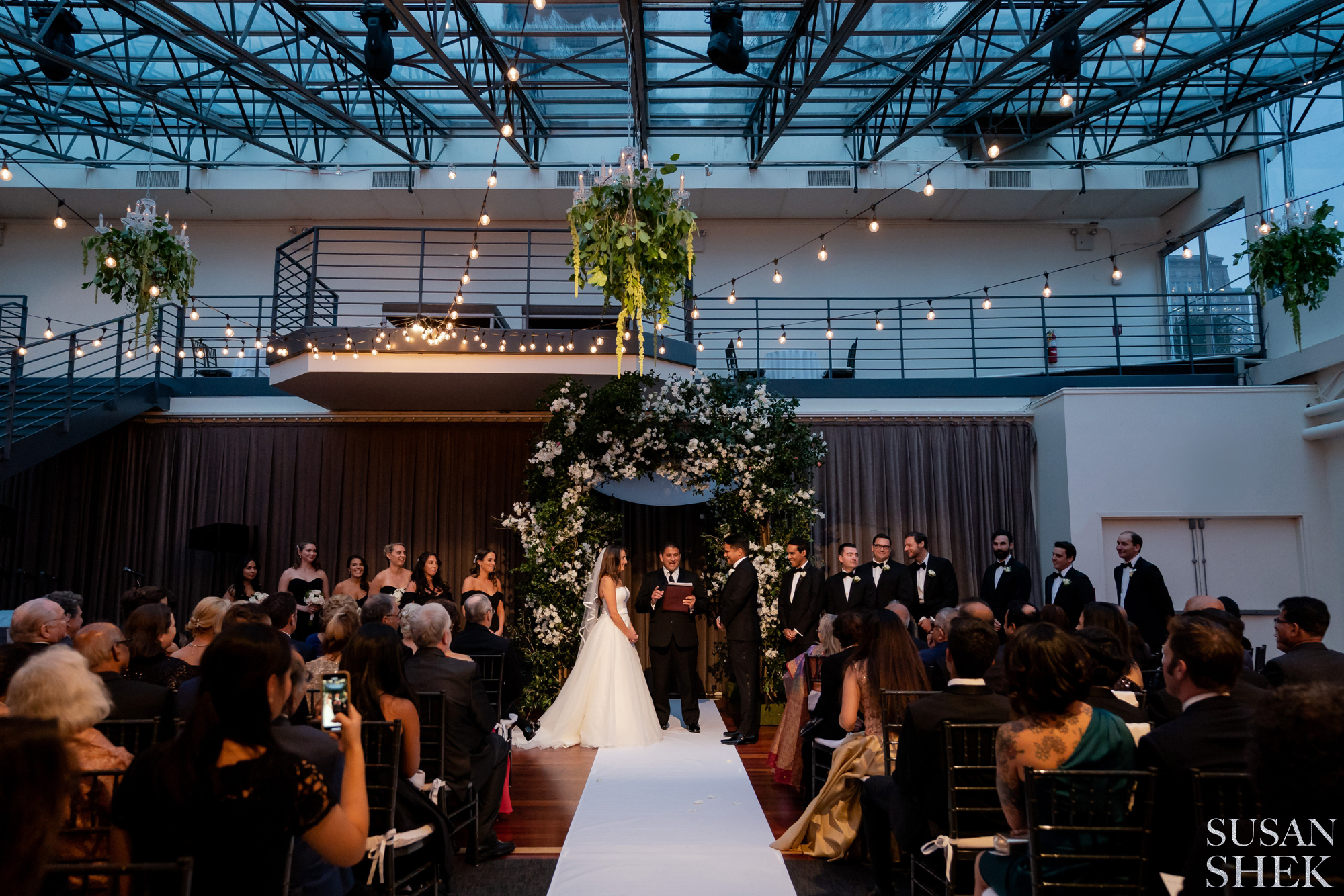 Ceremony Photo Indoors at Tribeca Rooftop