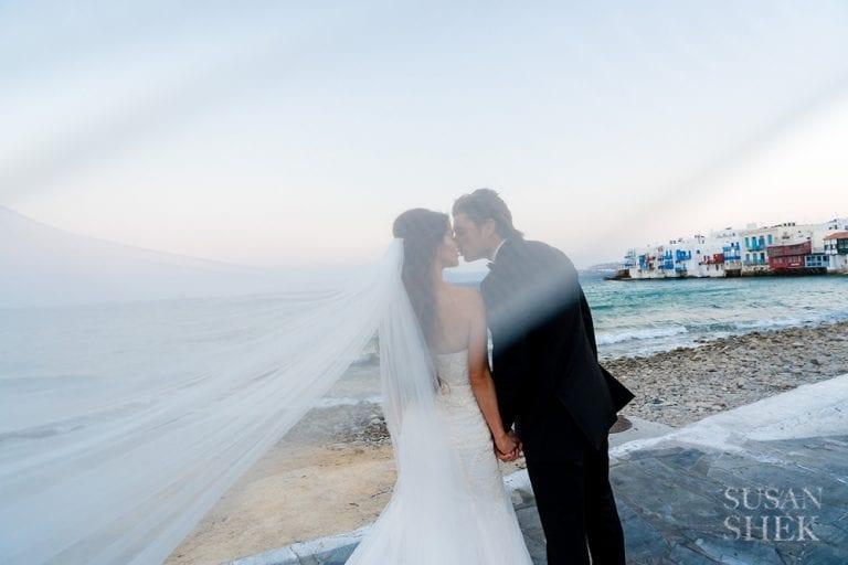A destination wedding in Mykonos Greece