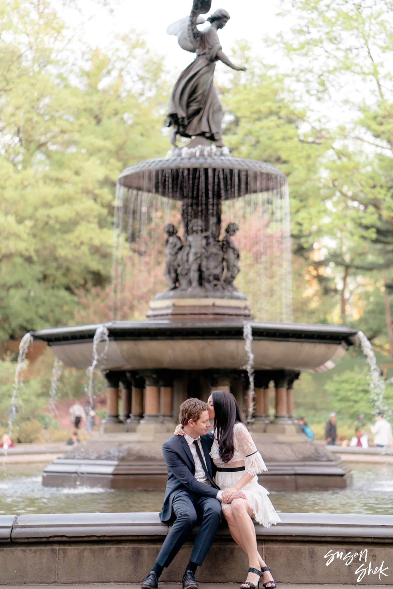 Bethesda Fountain in Central Park, Engagement Shoot, NYC Engagement Photographer, Engagement Session, Engagement Photography, Engagement Photographer, NYC Wedding Photographer