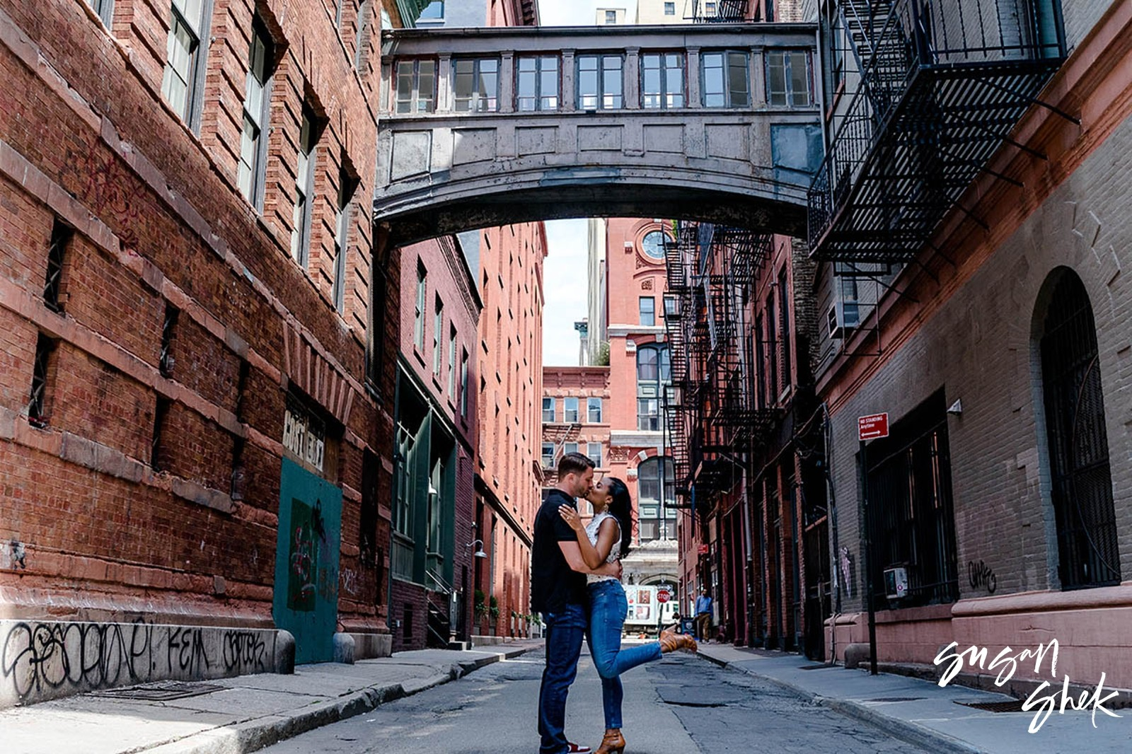Staple Street Engagement, Staple Street, Tribeca Engagement Shoot, NYC Engagement Photographer, Engagement Session, Engagement Photography, Engagement Photographer, NYC Wedding Photographer