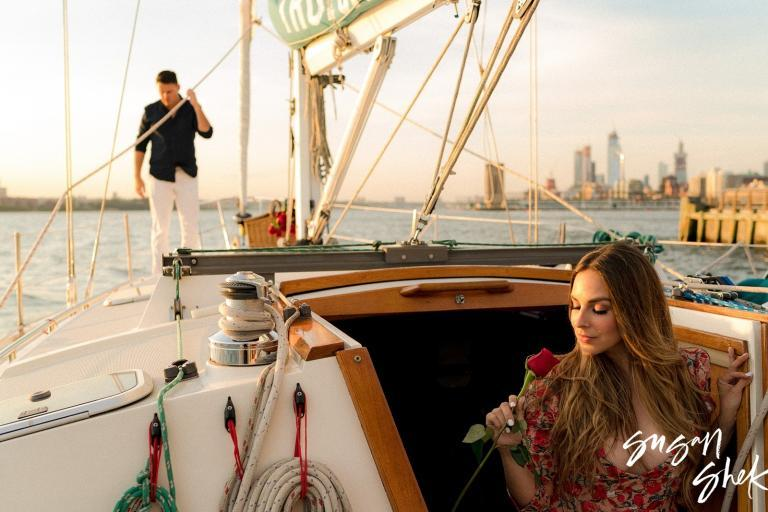 Sailing Engagement Photos in New York