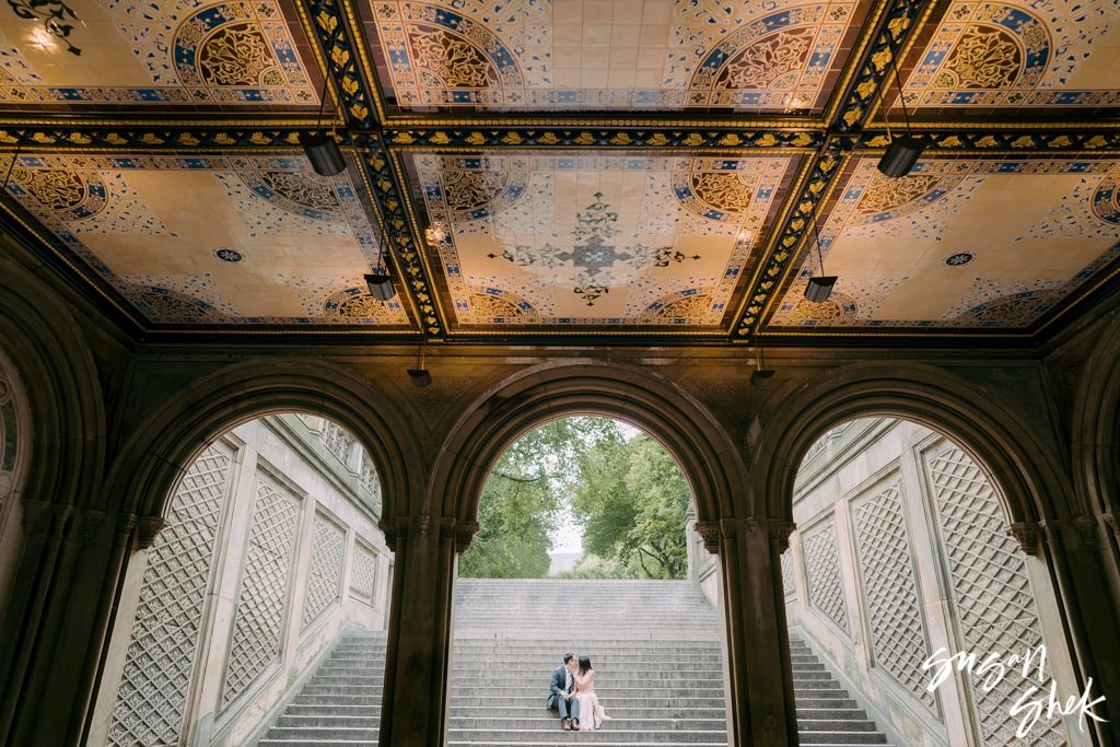 central park engagement photos. bethesda terrace engagement photos, engagement photos, nyc engagement shoot,