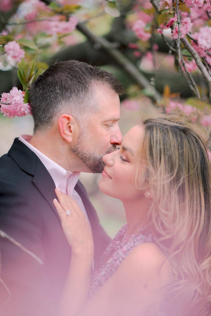 nyc wedding photographer cherry blossoms